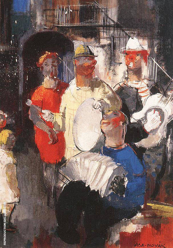 Musicians Painting By Vilmos aba-Novak - Reproduction Gallery