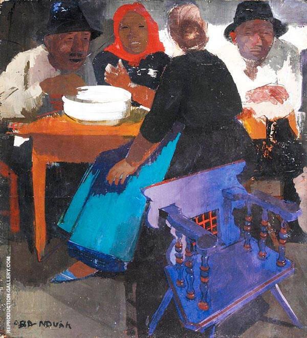 Peasants Painting By Vilmos aba-Novak - Reproduction Gallery
