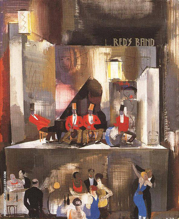 Reds Band c 1930 Painting By Vilmos aba-Novak - Reproduction Gallery