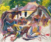 Resting Gypsies By Vilmos aba-Novak