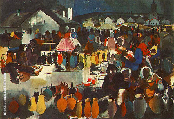 Szekler Market 1939 Painting By Vilmos aba-Novak - Reproduction Gallery