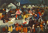 Szekler Market 1939 By Vilmos aba-Novak