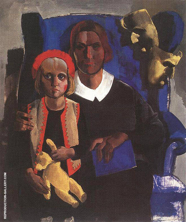 The Artists Wife and Daughter 1935 Painting By Vilmos aba-Novak
