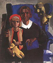 The Artists Wife and Daughter 1935 By Vilmos aba-Novak