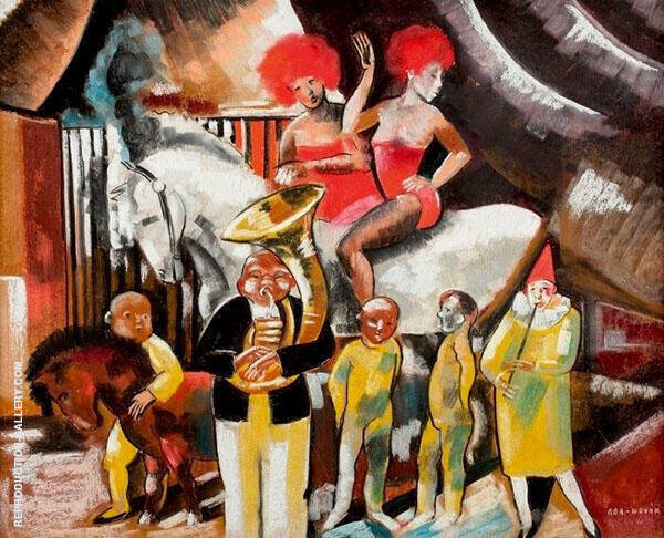 The World of Circus Painting By Vilmos aba-Novak - Reproduction Gallery