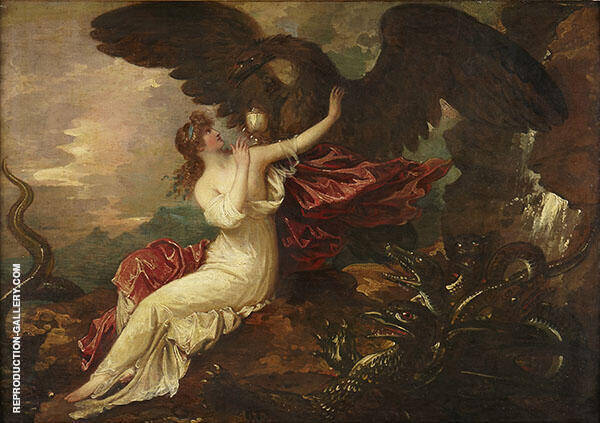 Eagle Bringing Cup to Psyche c1802 By Anton Domenico Gabbiani