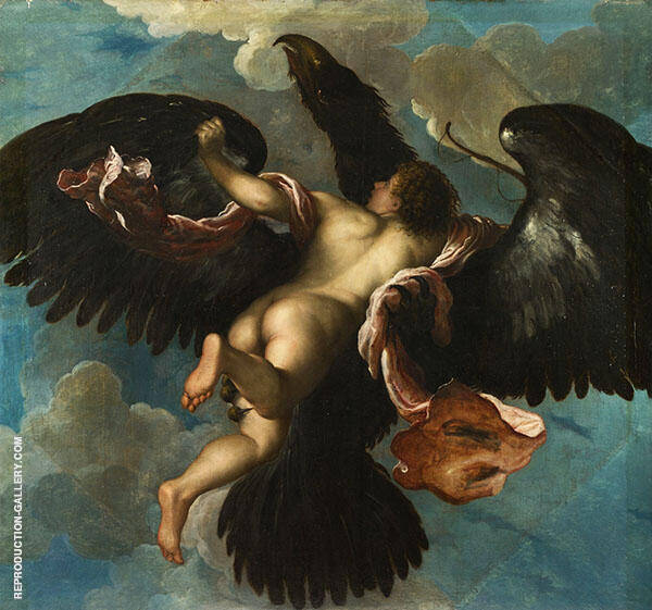The Rape of Ganymede Painting By Damiano Mazza - Reproduction Gallery