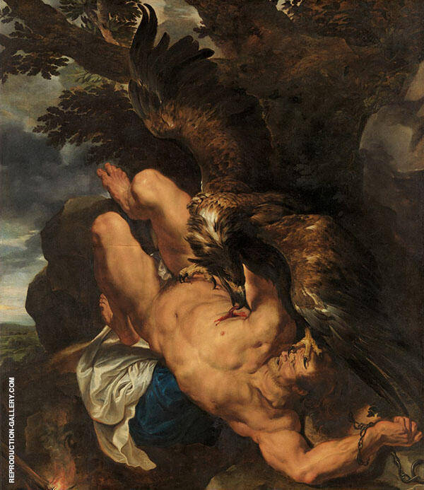 Prometheus Bound 1618 Painting By Peter Paul Rubens - Reproduction Gallery