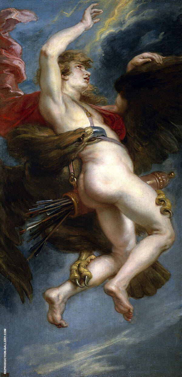 The Rape of Ganymede c1636 Painting By Peter Paul Rubens