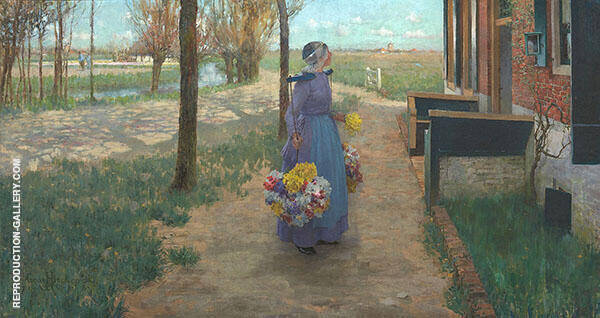 Flower Girl in Holland 1888 By George Hitchcock