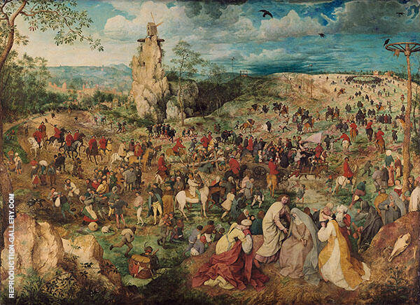 The Procession to Calvary, Carrying the Cross of Christ 1564 Painting By ...