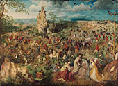 The Procession to Calvary, Carrying the Cross of Christ 1564 By Pieter The Elder Bruegel
