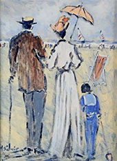 Family Day at The Beach By Henry Saint-Clair