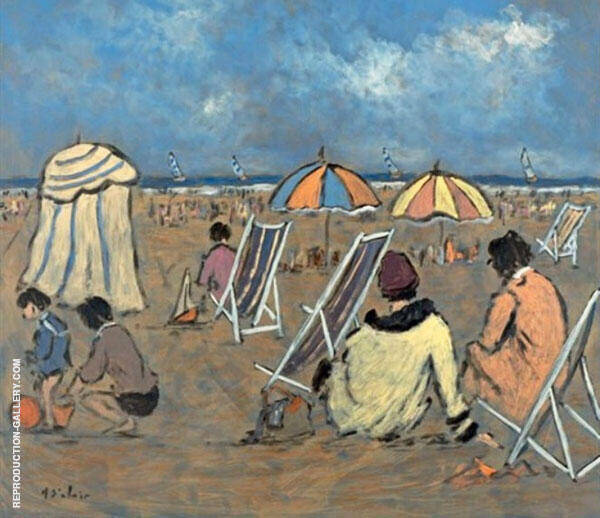 Family Day on The Beach Painting By Henry Saint-Clair