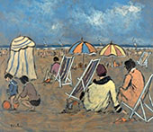 Family Day on The Beach By Henry Saint-Clair
