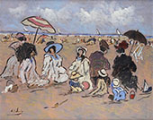 Family Day on The Beach and Normandy By Henry Saint-Clair