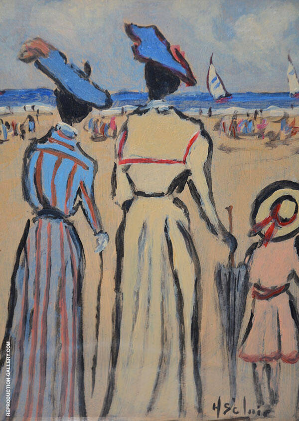 Family Trip to The Beach Painting By Henry Saint-Clair