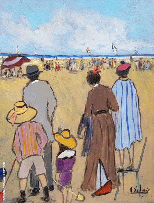 Going to The Beach Painting By Henry Saint-Clair - Reproduction Gallery
