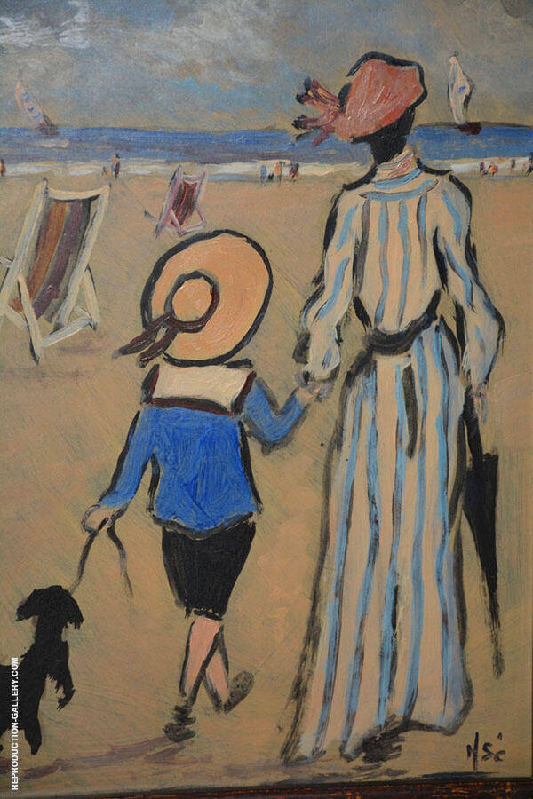 Le Plage Painting By Henry Saint-Clair - Reproduction Gallery