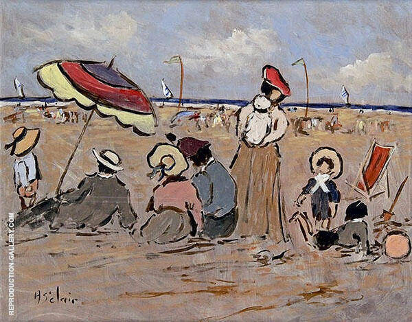 Oat The Beach with Friends Painting By Henry Saint-Clair