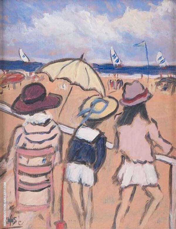 Summer Day at The Beach Painting By Henry Saint-Clair
