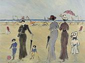 Sur La Plage By Henry Saint-Clair