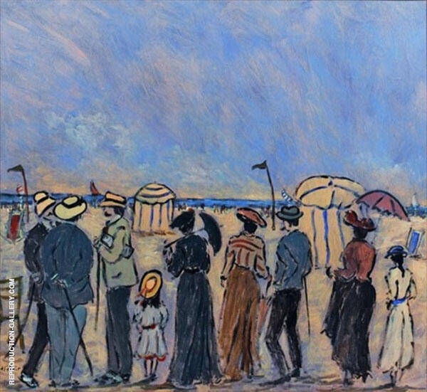 The Beach at Trouville Painting By Henry Saint-Clair
