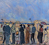 The Beach at Trouville By Henry Saint-Clair
