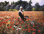 The Poppy Field By George Hitchcock