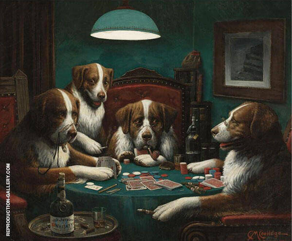 Poker Game 1894 Painting By Cassius Marcellus Coolidge