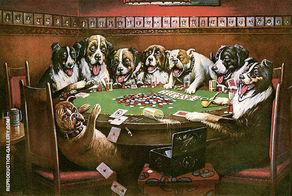 Poker Sympathy Painting By Cassius Marcellus Coolidge