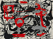 Inspired by Red Black and Silver By Jackson Pollock (Inspired By)