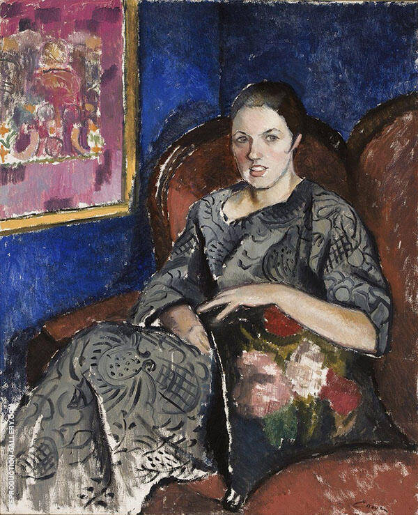 Artist Wife 1925 Painting By Alvar Cawen - Reproduction Gallery