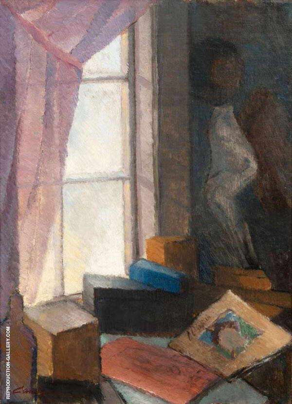 At The Window Painting By Alvar Cawen - Reproduction Gallery