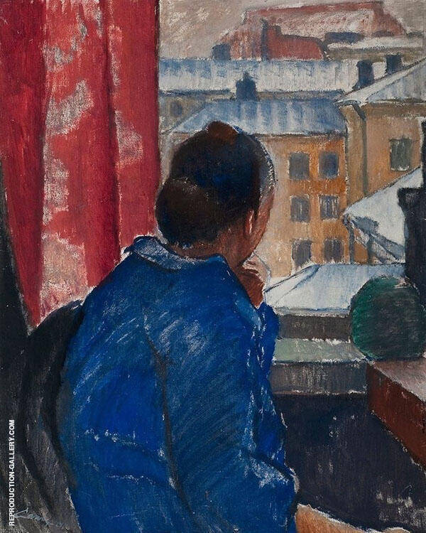 At The Window 1924 Painting By Alvar Cawen - Reproduction Gallery