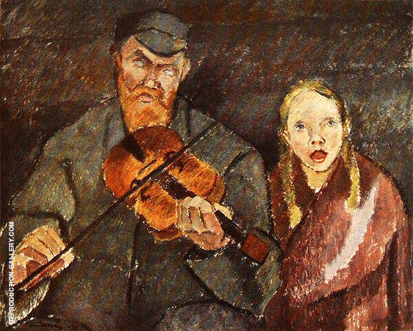 Blind Musician Painting By Alvar Cawen - Reproduction Gallery