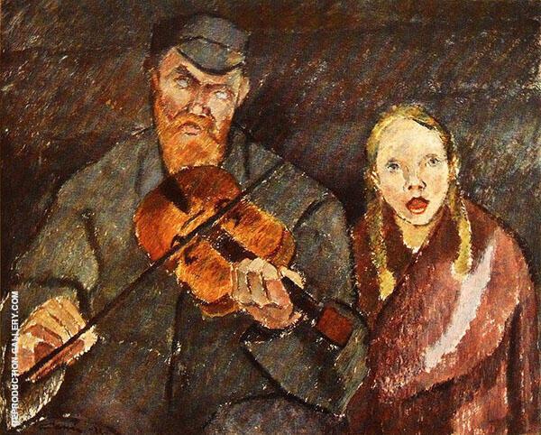 Blind Musician By Alvar Cawen