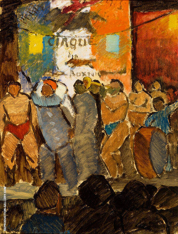 Circus in Paris Painting By Alvar Cawen - Reproduction Gallery
