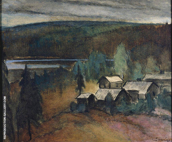 Farm in The Wilderness 1929 Painting By Alvar Cawen - Reproduction Gallery