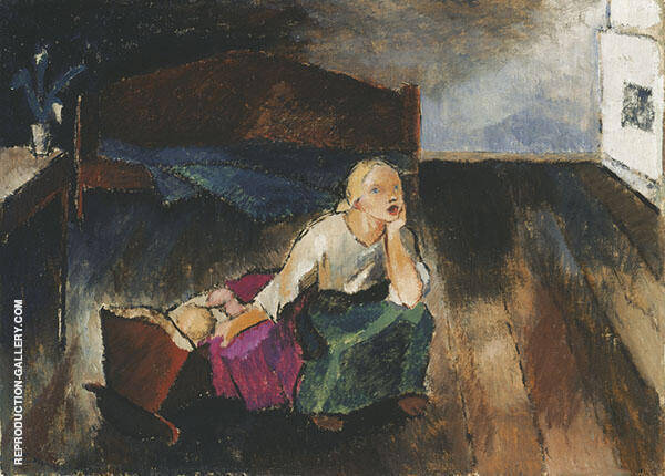 Kehtolaulu 1921 Painting By Alvar Cawen - Reproduction Gallery