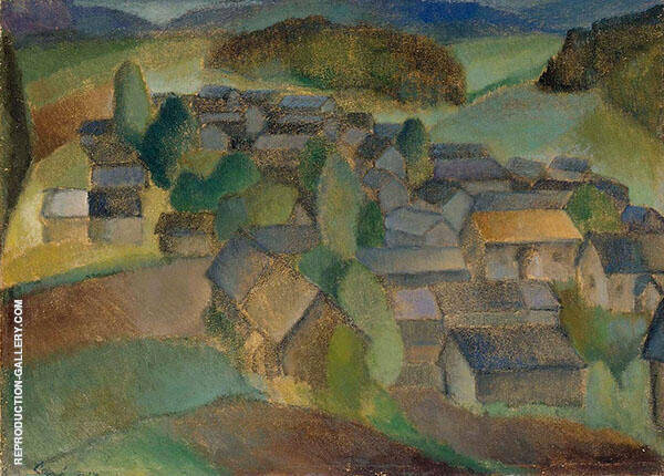 Landscape from France Painting By Alvar Cawen - Reproduction Gallery