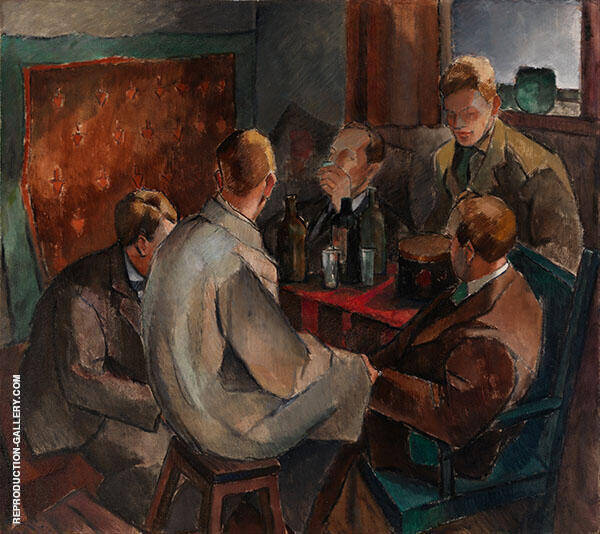 Members of The November Group 1921 Painting By Alvar Cawen