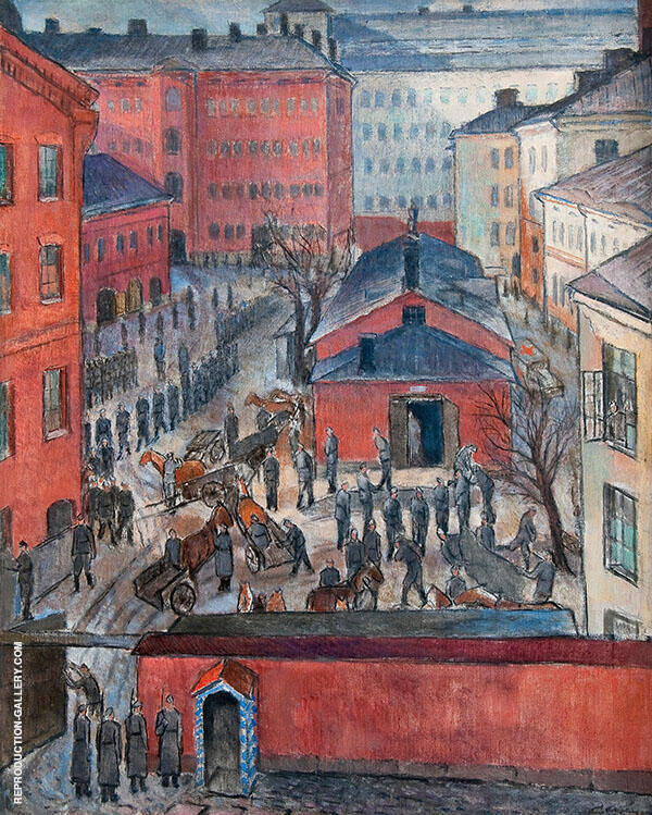 Mobilization Painting By Alvar Cawen - Reproduction Gallery