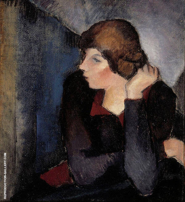 Portrait of a Woman 1915 Painting By Alvar Cawen - Reproduction Gallery