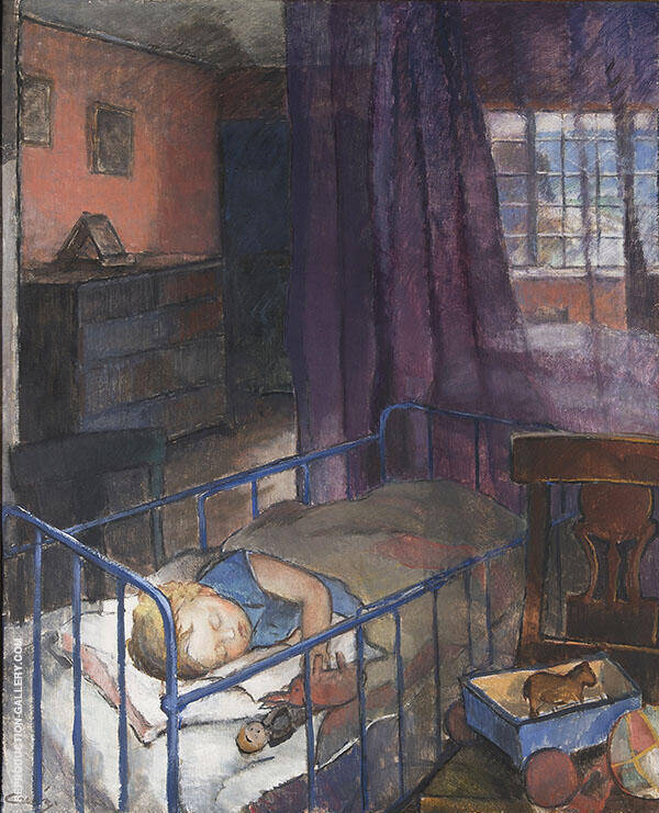 Sleeping Child Painting By Alvar Cawen - Reproduction Gallery