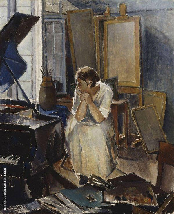 Studio Interior 1923 By Alvar Cawen