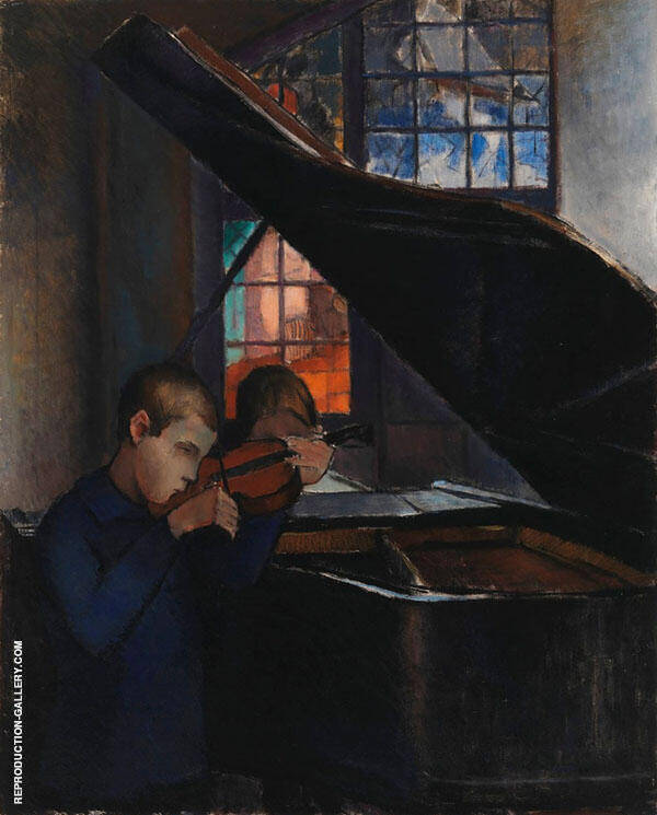 The Grand Piano 1925 Painting By Alvar Cawen - Reproduction Gallery