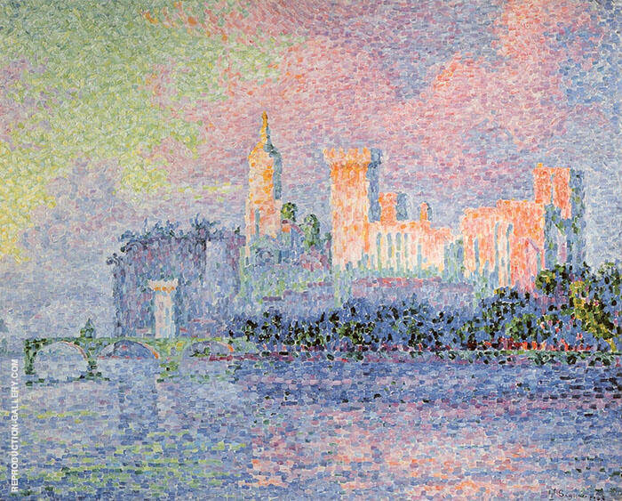 Papal Palace 1900 Painting By Paul Signac - Reproduction Gallery