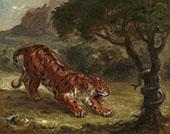 Tiger and Snake1862 By Eugene Delacroix