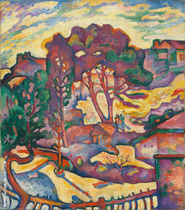 Large Trees L'Estaque c1906 By Georges Braque
